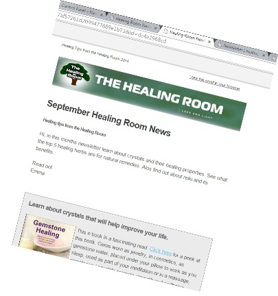 Healing Room Dublin Newsletter